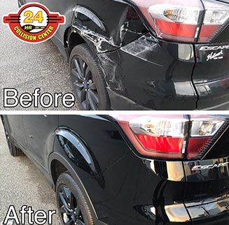 24HR Collision Center before and after photo