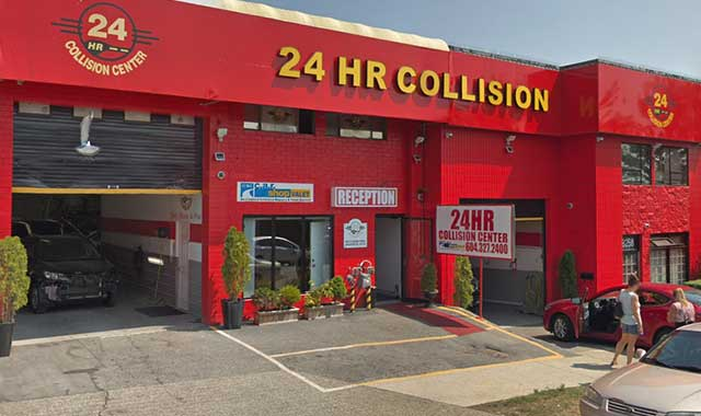 Contact 24HR Collision Center in Vancouver and Surrey, BC
